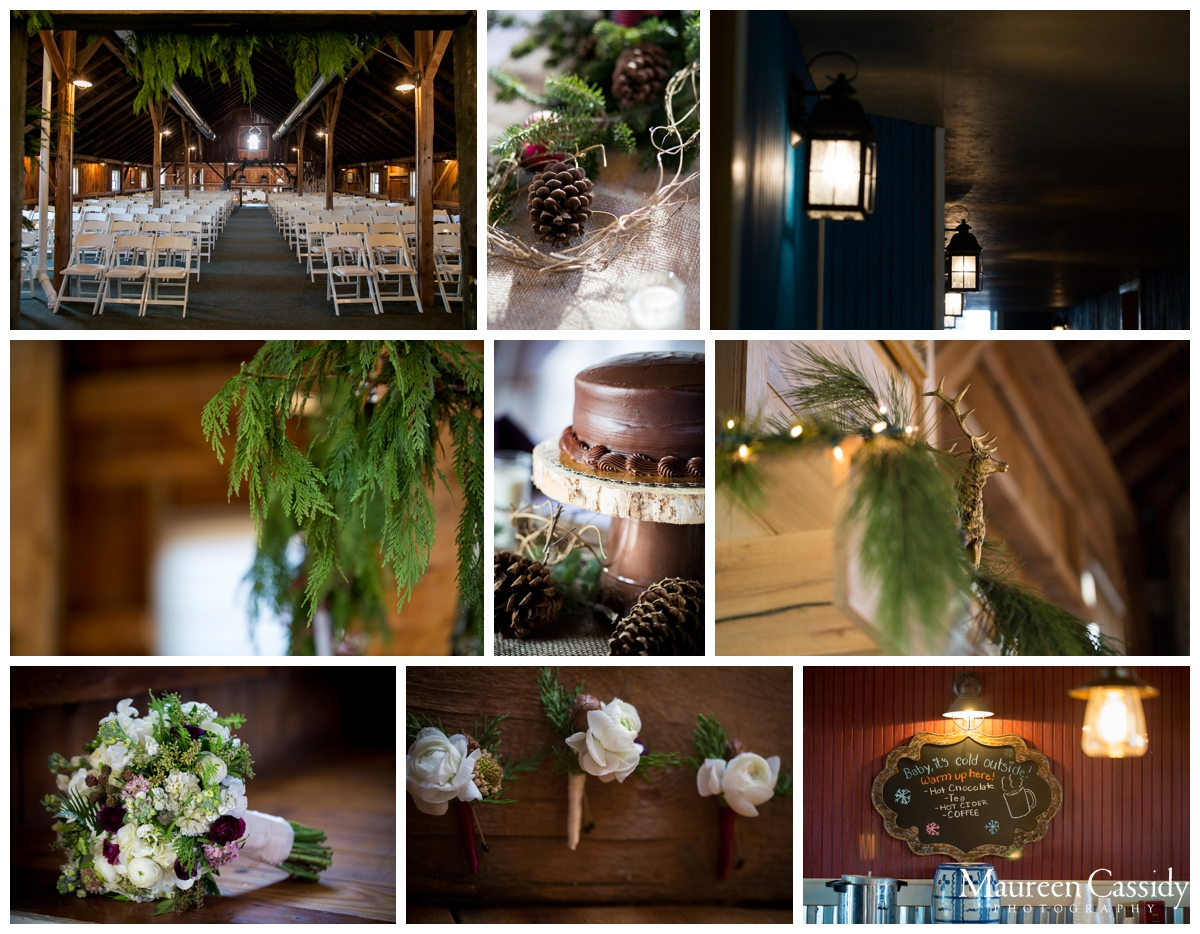 details of barn at harvest moon wedding
