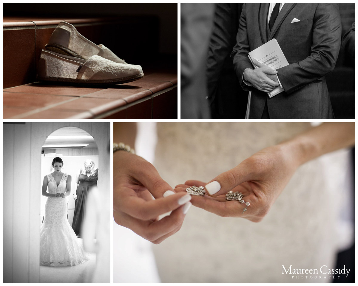 collage of wedding details