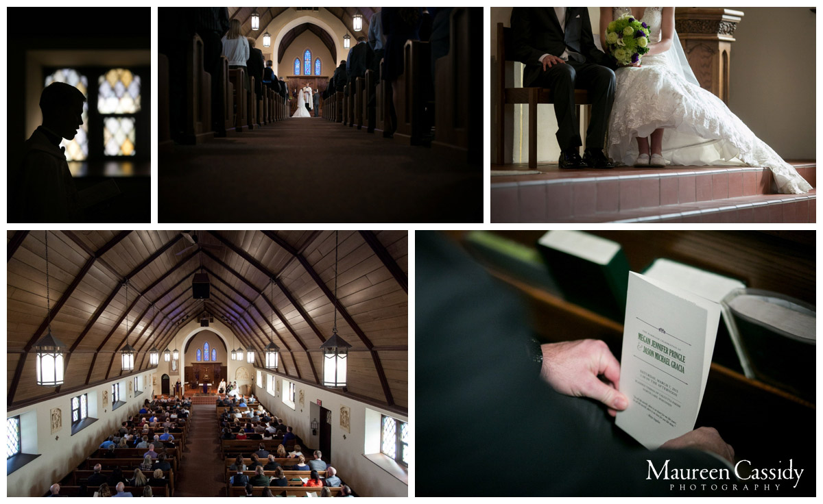collage of wedding ceremony photo