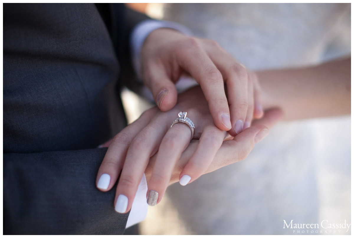 just married rings and hands photo