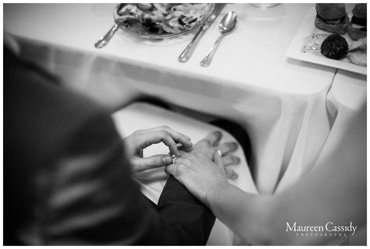playing with rings at wedding reception photo
