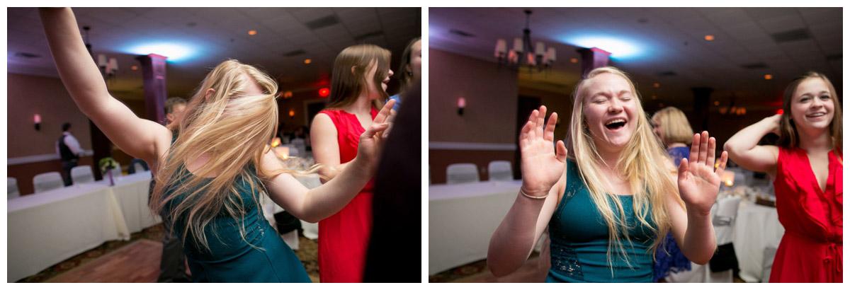 juxtaposition dancing happy wedding photo