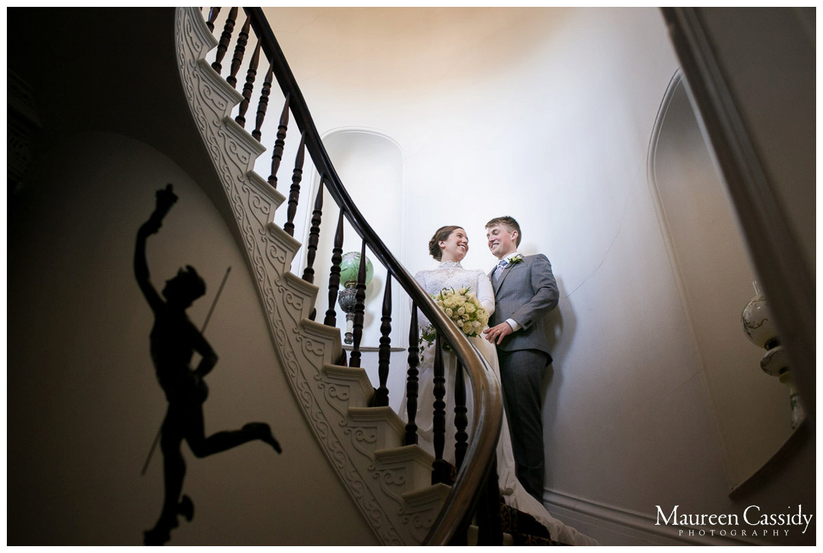 creative portraits of bride and groom in janesville
