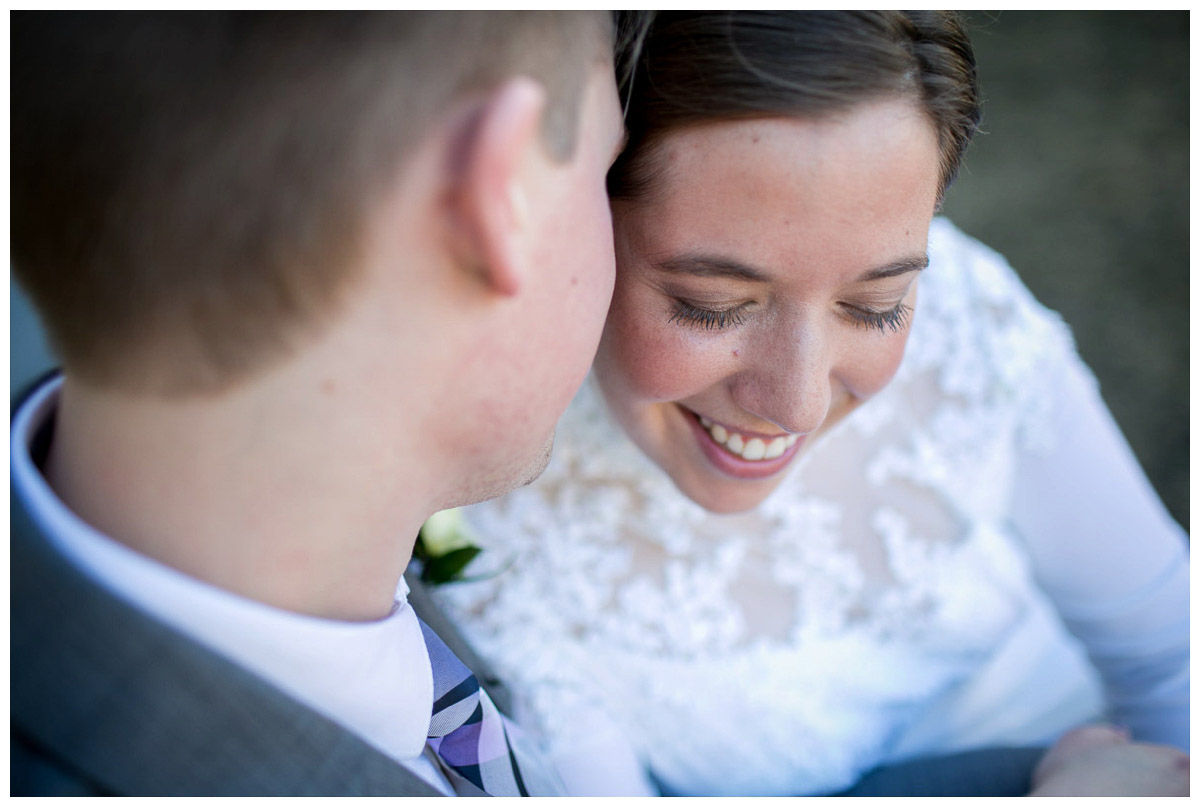creative portraits of bride and groom