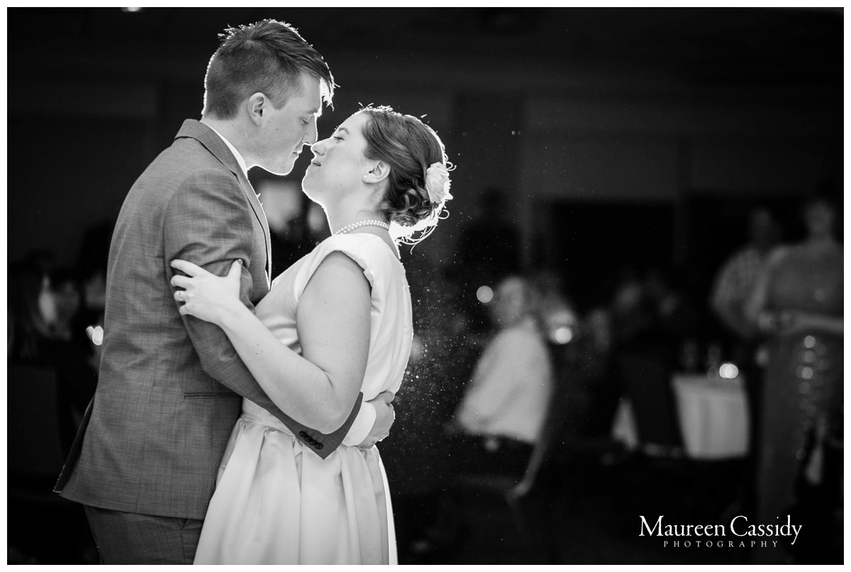 candids at reception in madison wisconsin first dance