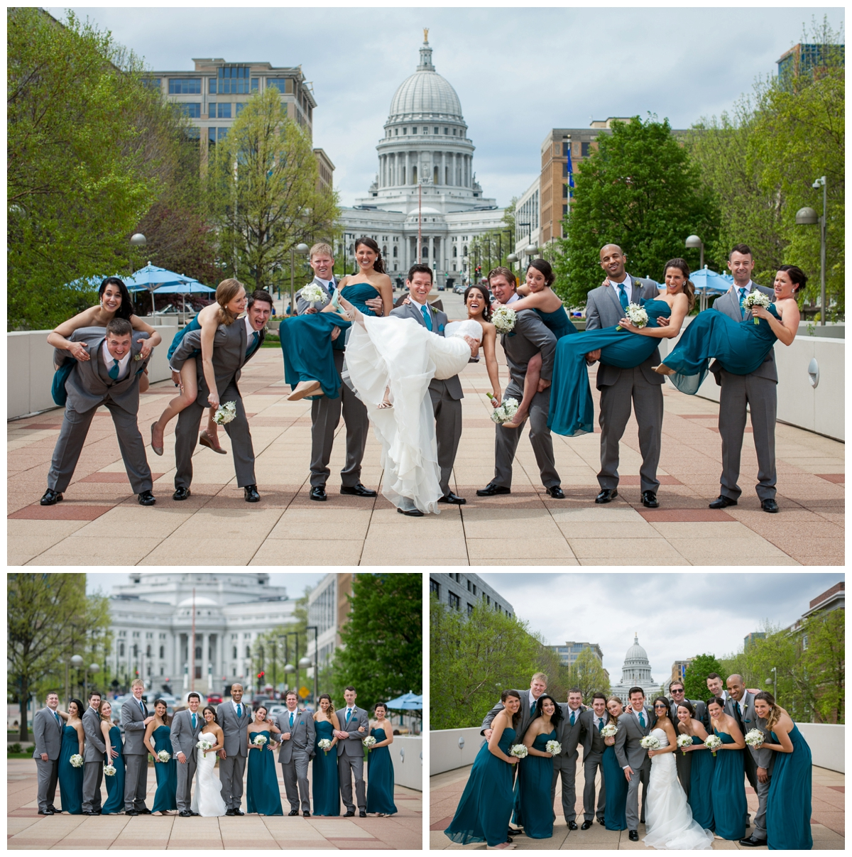 fun photography bridal party madison wi