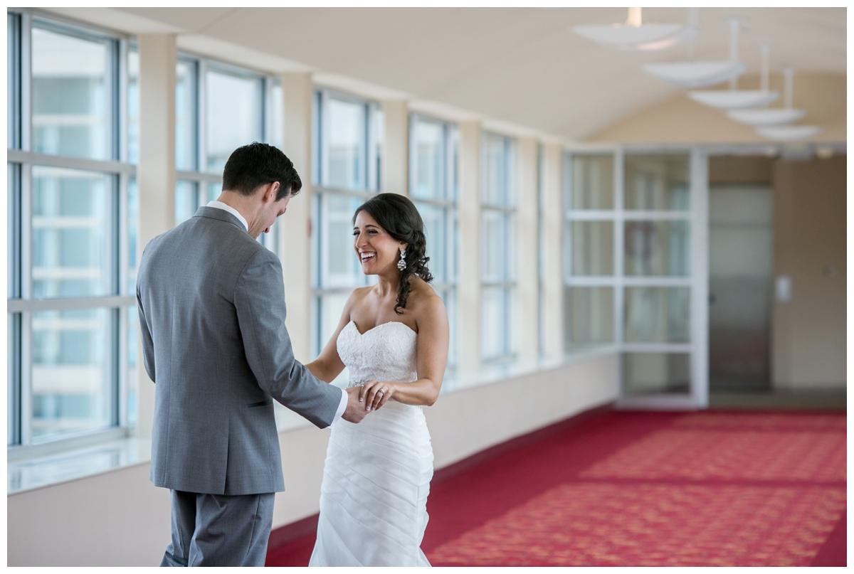 monona terrace wedding first look