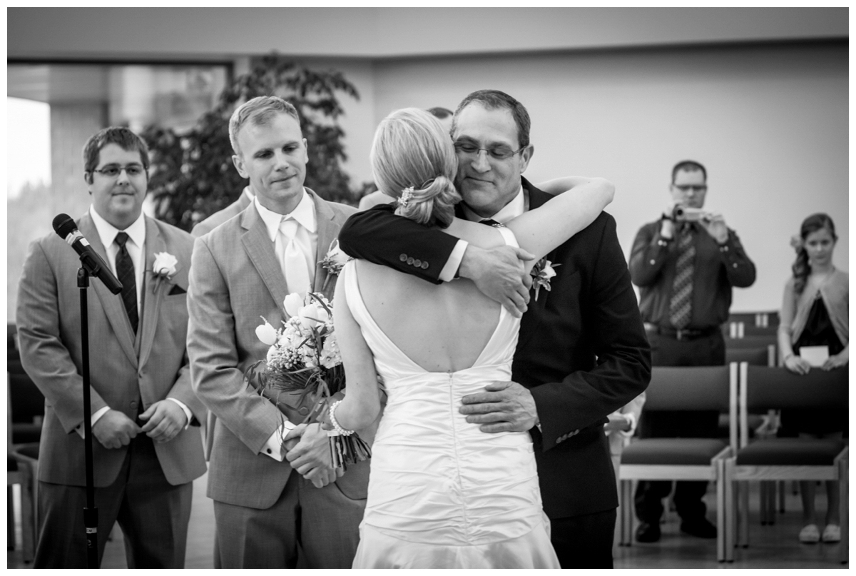 father giving away the bride wedding pic