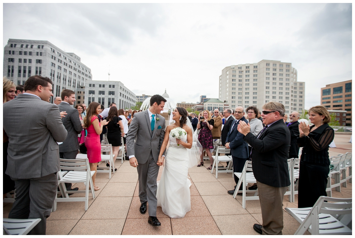 happy newlyweds monona terrace