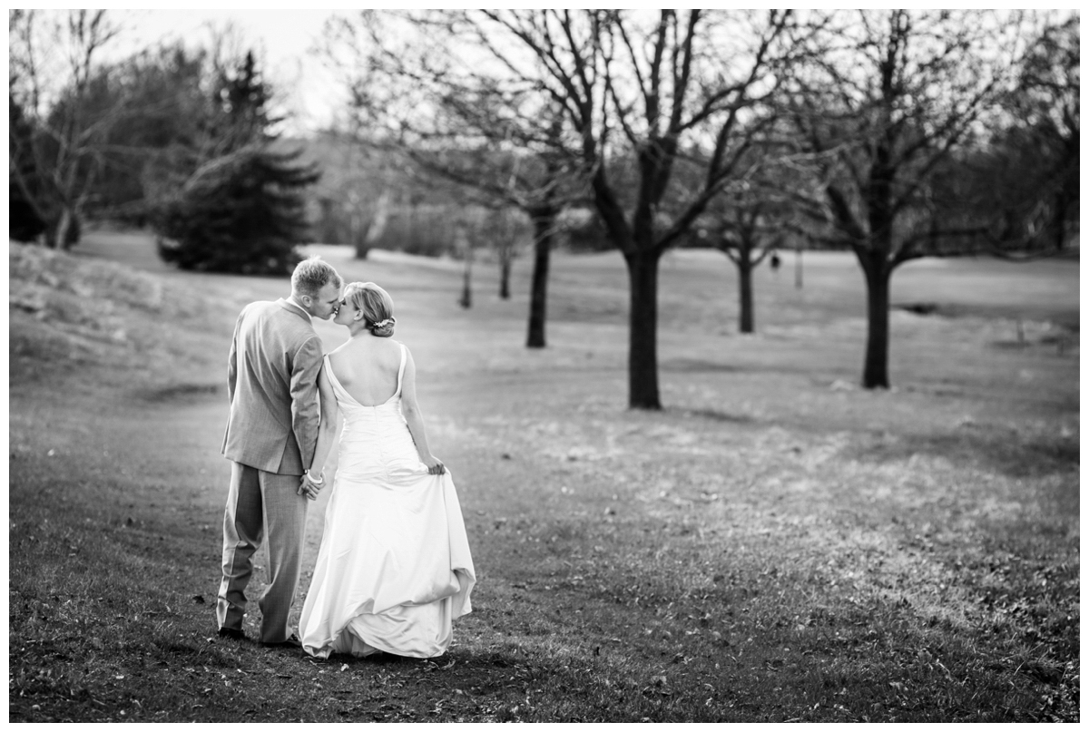 trees grass bride groom outside photo wi