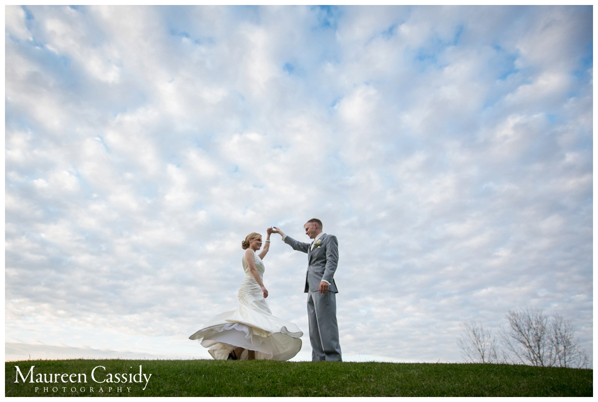 clouds sky bride groom natural wedding picture