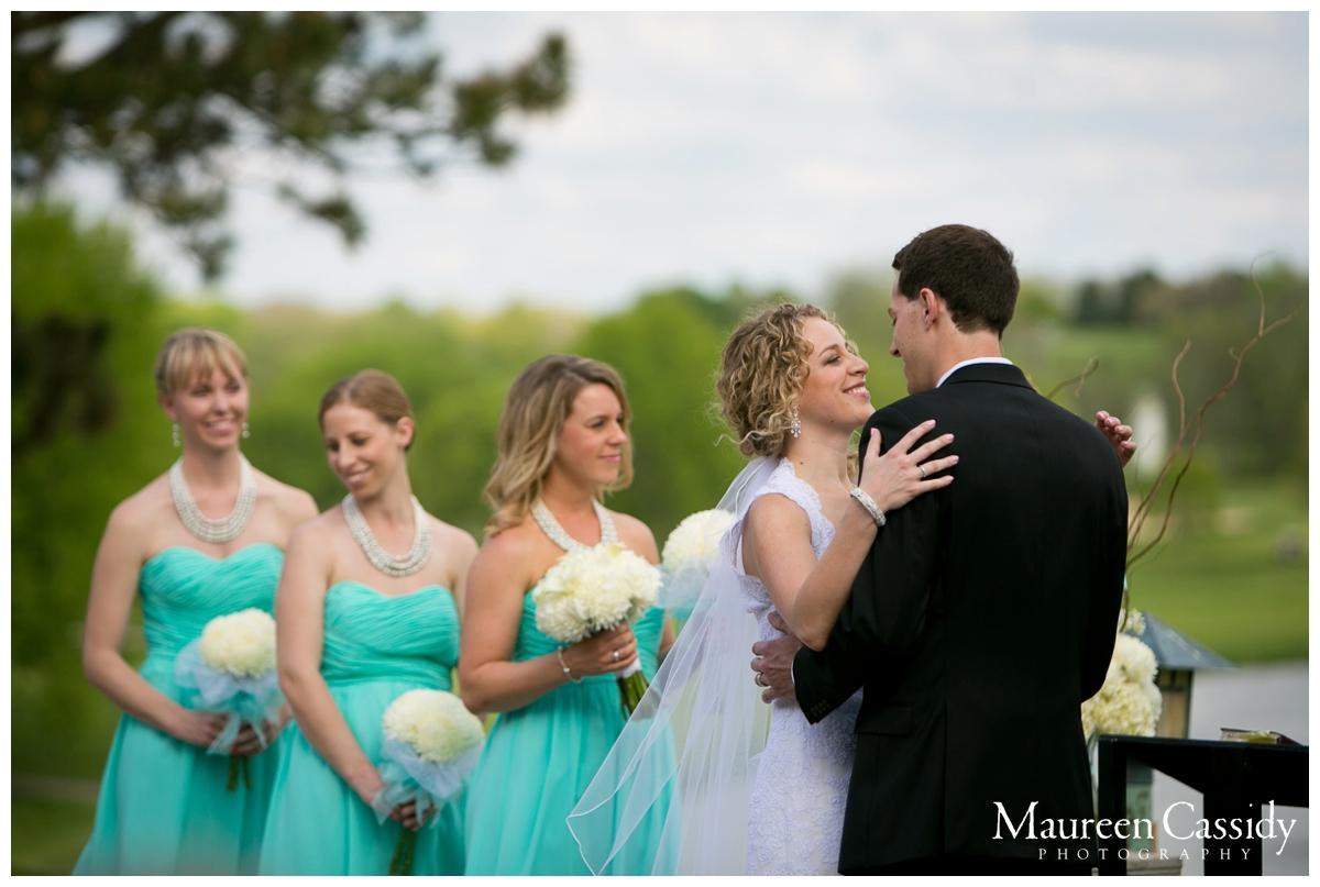 first kiss newlyweds photography madison wi