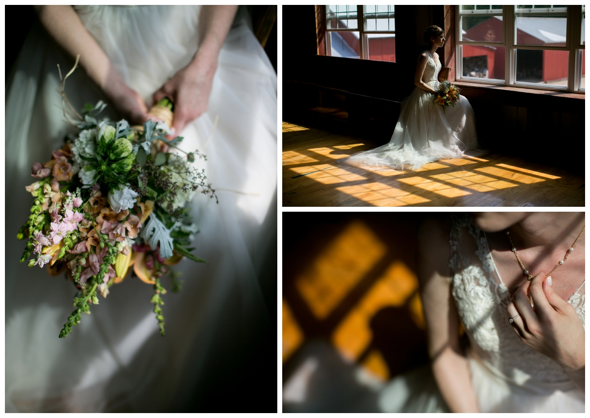 shadows natural lighting flowers wedding