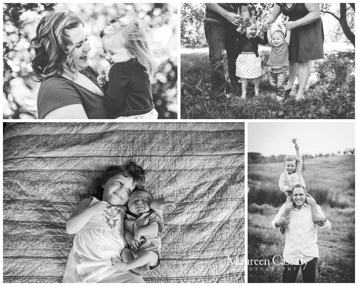 southern wisconsin black and white family pictures
