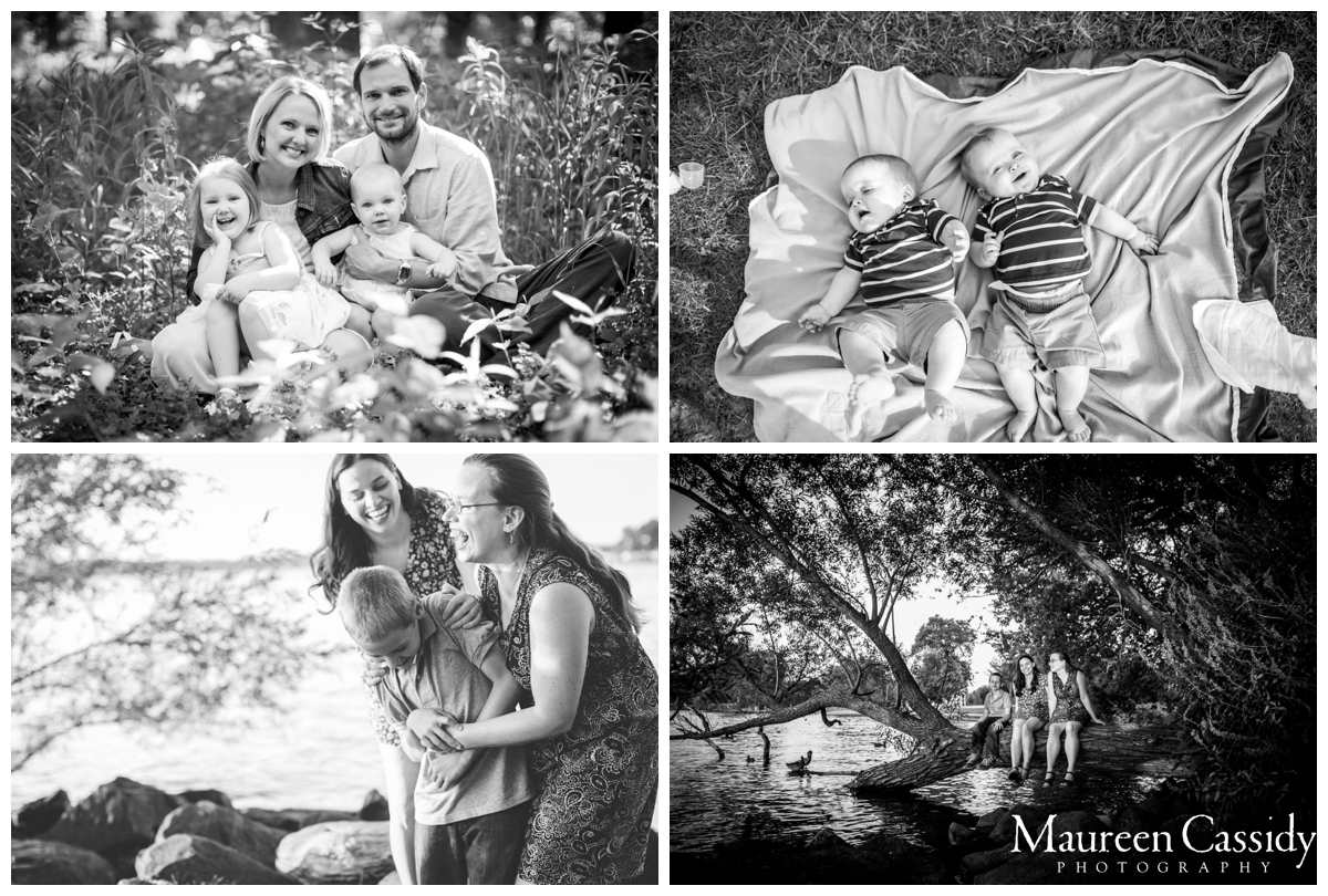b&w family outdoor session photography