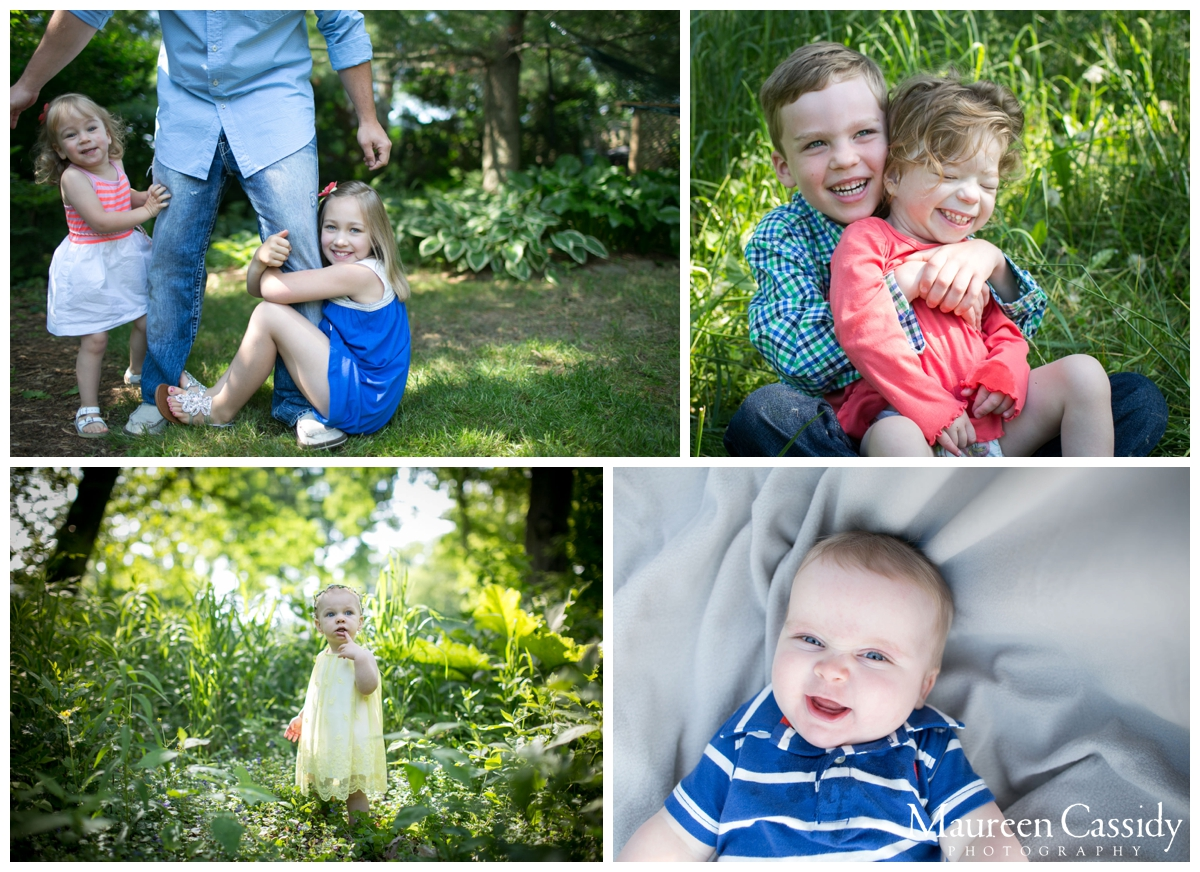 children in the woods and newborn photography