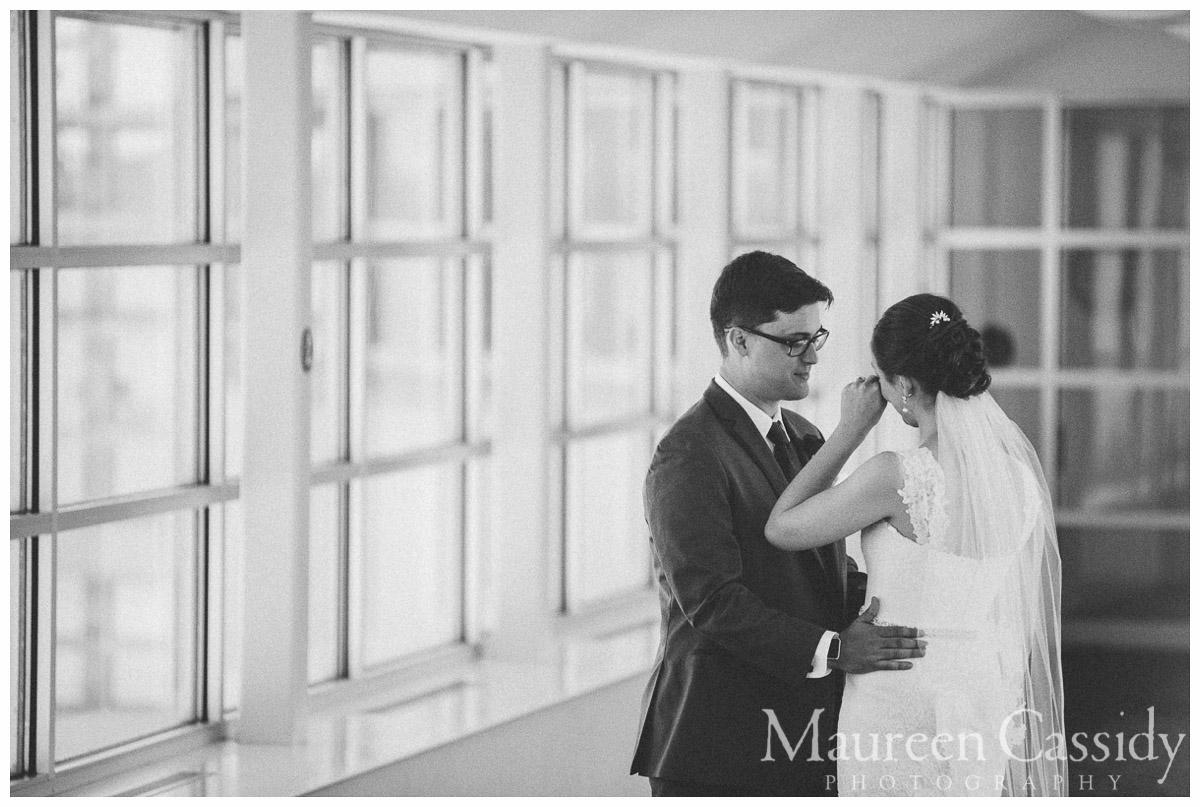 bride candid at monona terrace