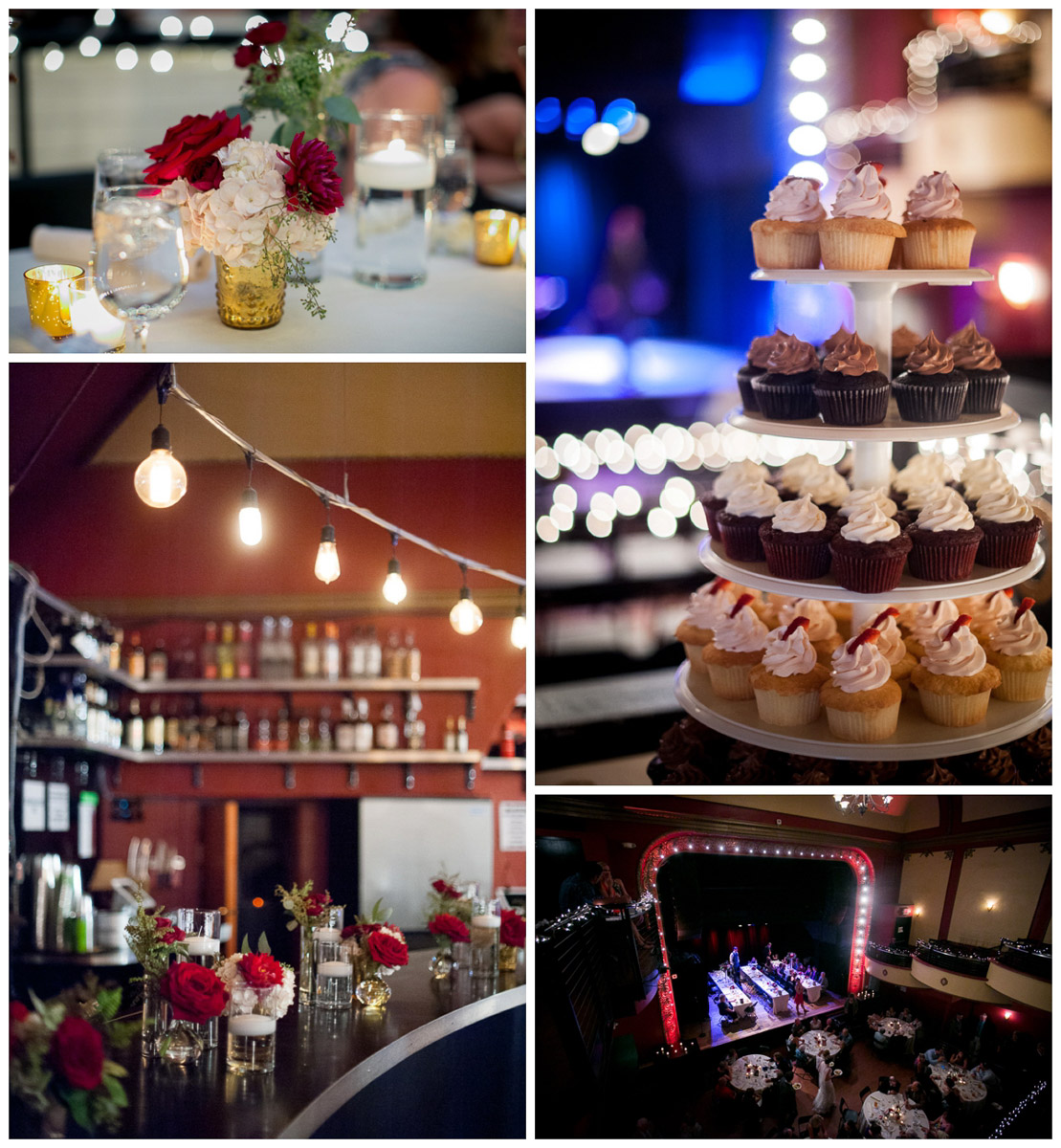 details at majestic theater wedding