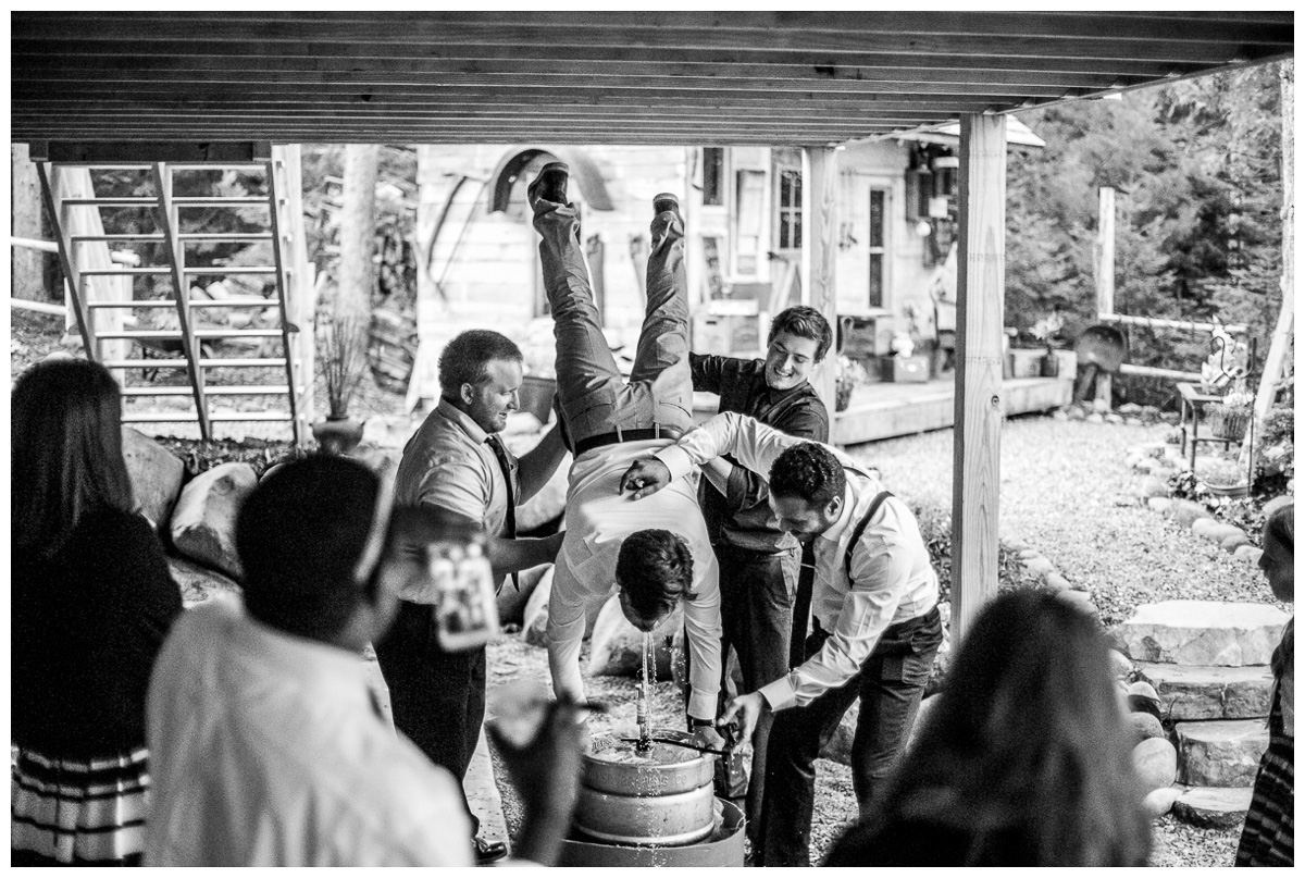 northern wedding in backyard