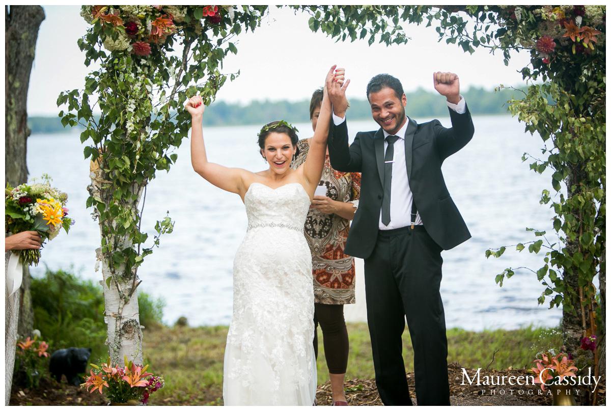 ceremony in backyard wedding
