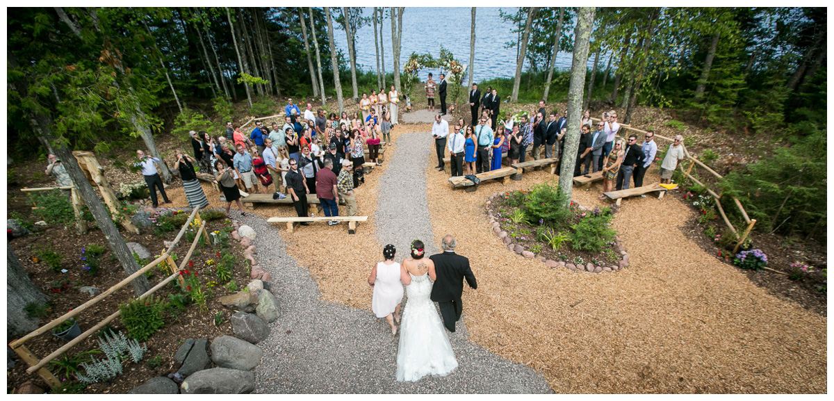 rustic wedding in backyard in the UP