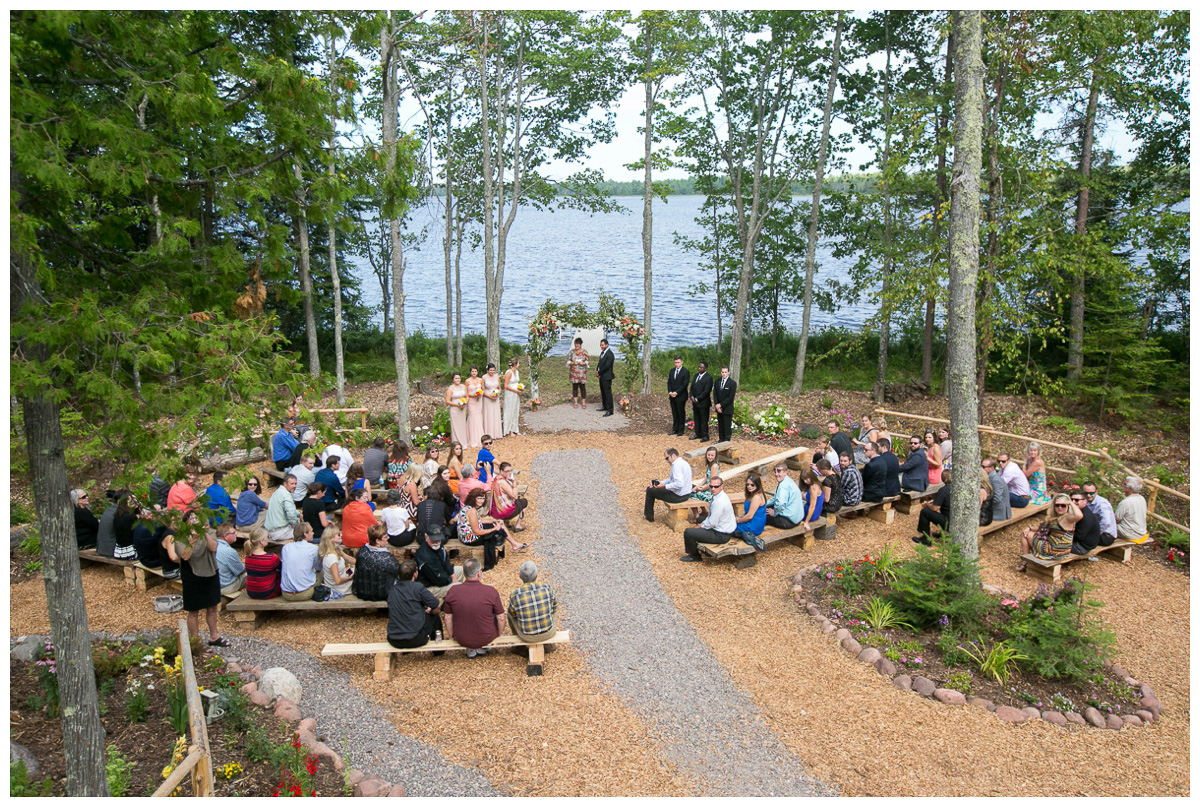 rustic wedding in backyard