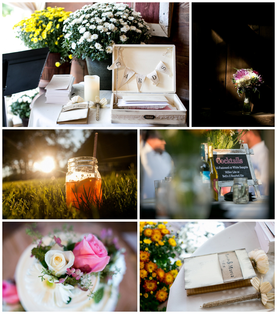 backyard wedding DIY details