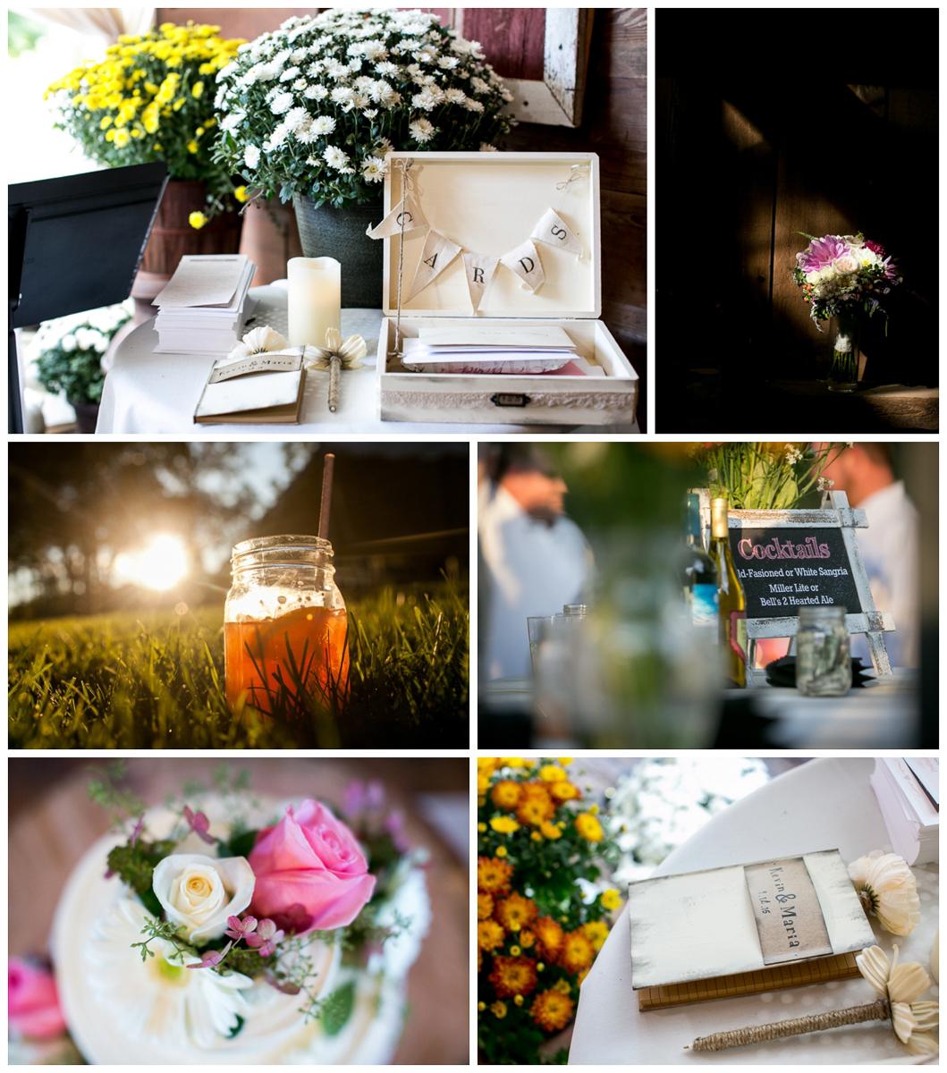 backyard wedding DIY details