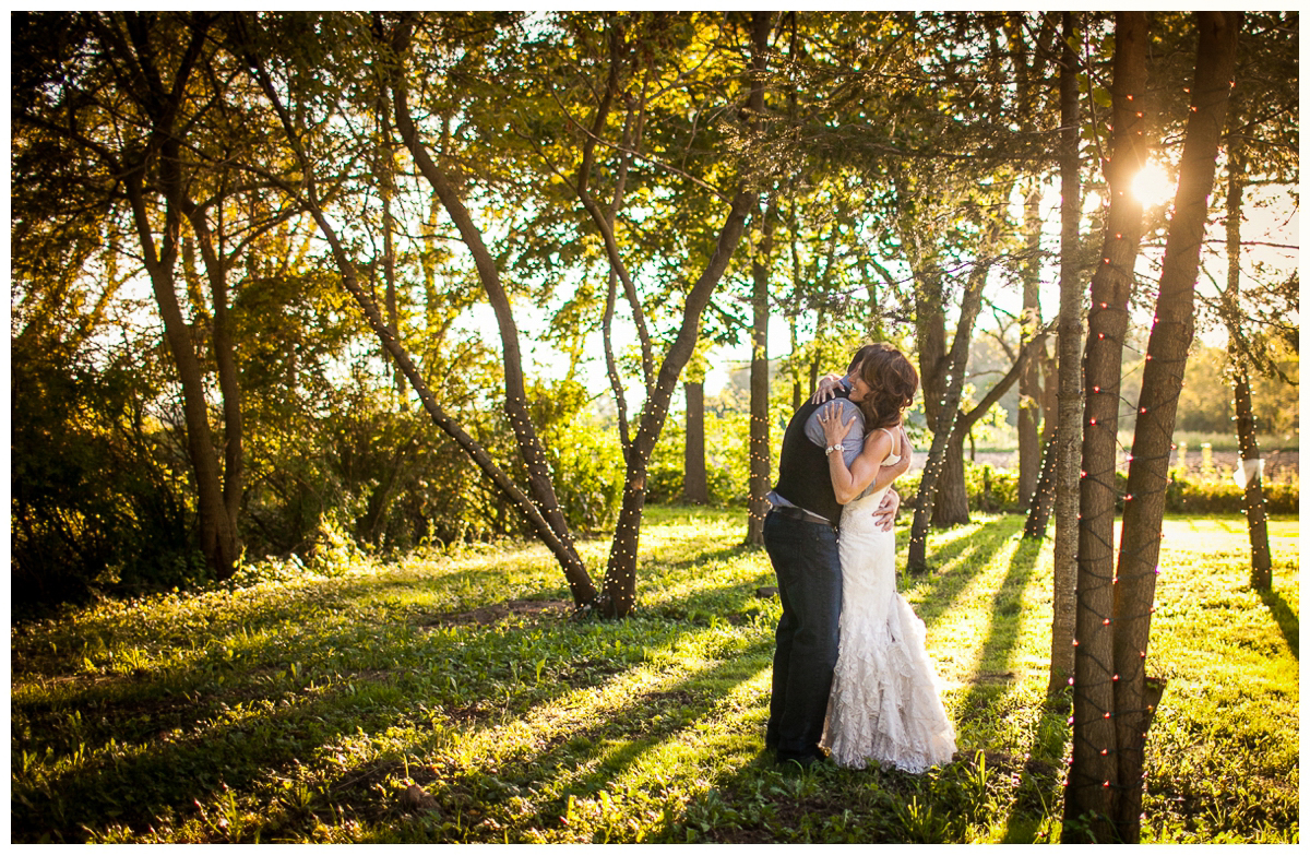 artistic DIY backyard wedding portraits