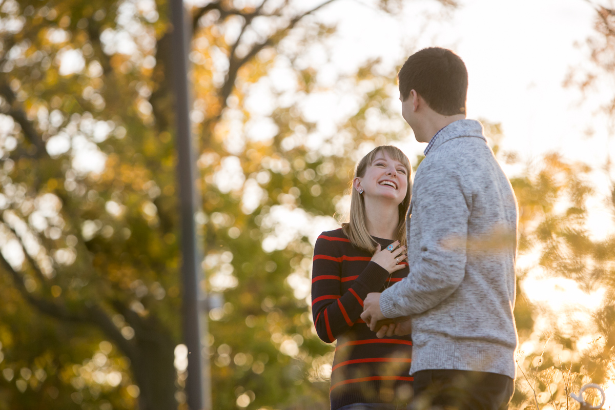 Woman's reaction to wedding proposal