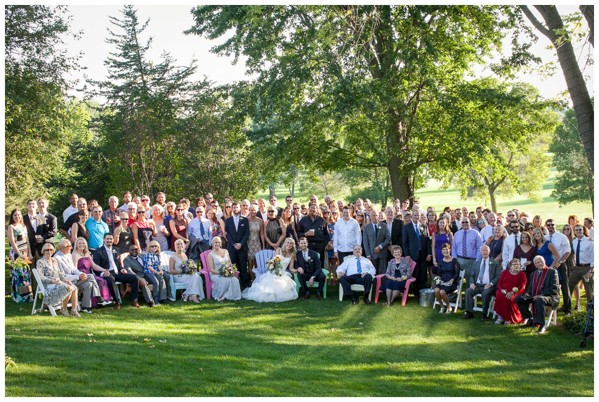 entire wedding party photo