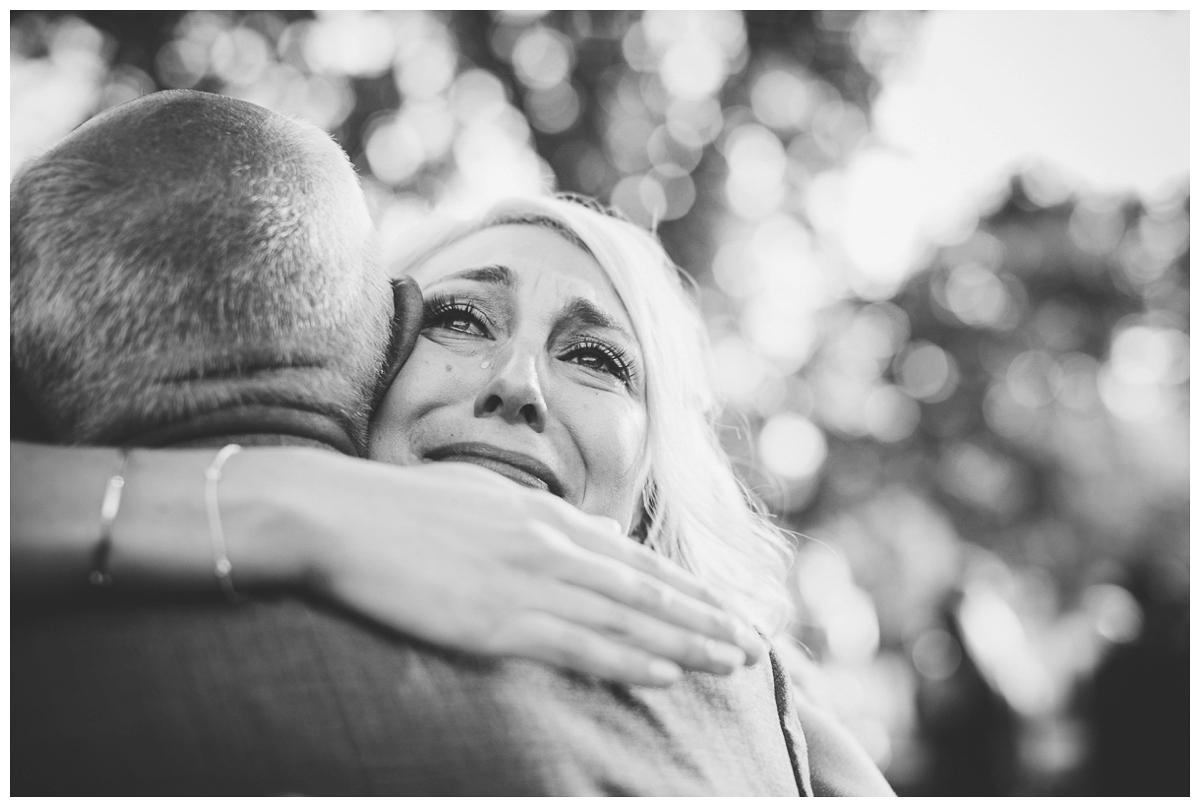 tears of joy wedding photography