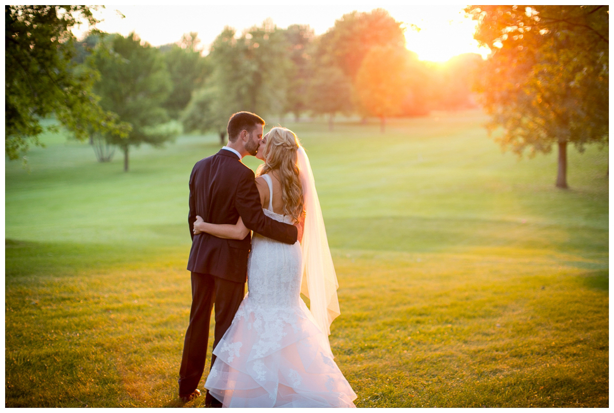 newlyweds sunset photography backyard madison wi